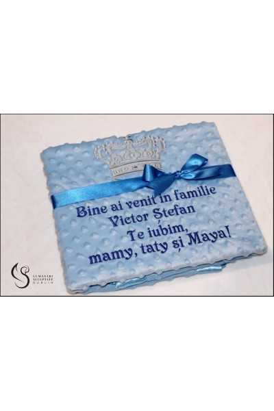 Blue Blanket with Silver...