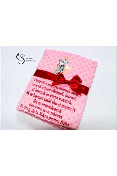 Pink Blanket With Custom...