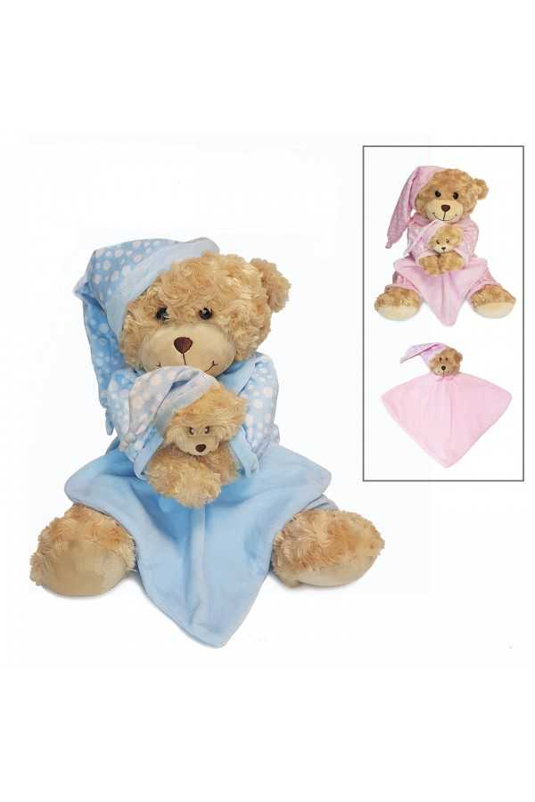 Bedtime Bear With Comforter