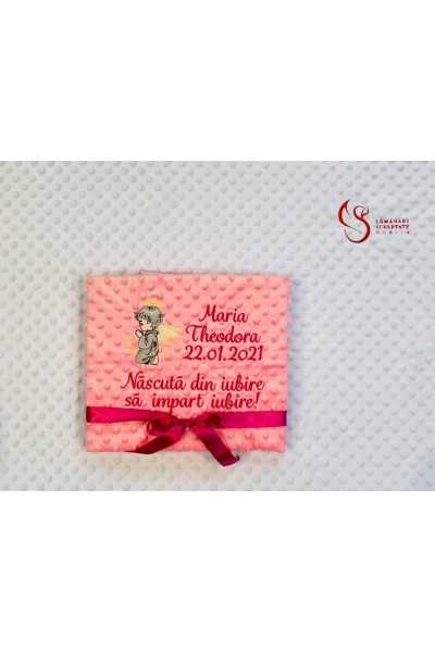 Pink Angel Blanket with...