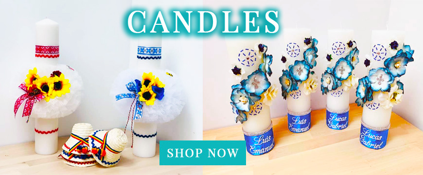 Christening Candles Girl